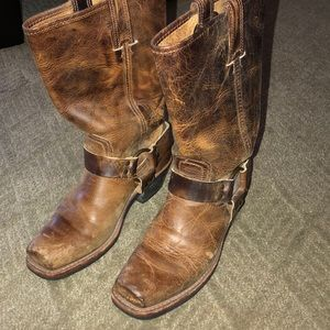 Frye tan leather boots 7